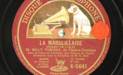 Disque NC Gramophone K 5641 - Willy Tubiana (1891-1980) est une basse de l'Opéra-comique - source : BnF/gallica.bnf.fr