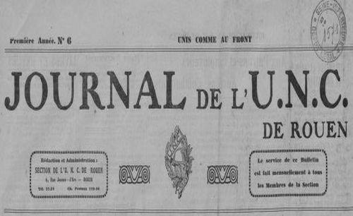 """Accéder à la page """"Journal de l'U.N.C. de Rouen"""""""