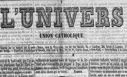 """Accéder à la page """"Univers (L') (1833)"""""""