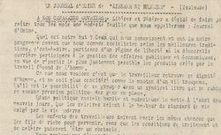 """Accéder à la page """"Journal d'usine de Libérer et Fédérer (Le) (Toulouse)"""""""