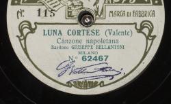 Luna cortese : Canzone napoletana ; Valente, comp. ; Giuseppe Bellantoni, BAR ; acc. de piano