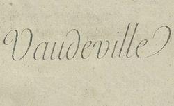 """Accéder à la page """"Vaudeville"""""""
