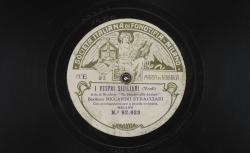 """I vespri siciliani. Aria di Monforte : """"In braccio alle doviaie"""" ; Verdi, comp. ; Riccardo Stracciari, baryton ; acc. de grand orchestre - source : gallica.bnf.fr / BnF"""