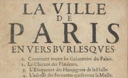 """Accéder à la page """"La ville de Paris en vers burlesques """""""