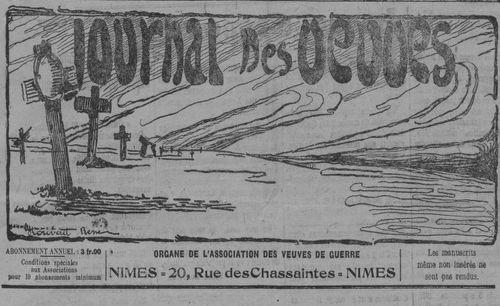 """Accéder à la page """"Journal des veuves de guerre"""""""