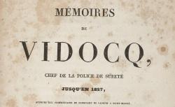 """Accéder à la page """"Vidocq, Mémoires"""""""