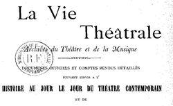 """Accéder à la page """"Vie théâtrale (La)"""""""