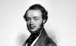 Henri Vieuxtemps, lithographie de Josef Kriehuber, 1842