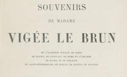 """Accéder à la page """"Vigée Le Brun, Madame, Souvenirs"""""""