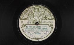 """La Forza del destino. Duetto Don Alvaro-Don Carlo : """"So lenne in quest'ora"""" ; Giuseppe Verdi, comp. ; M. Gilion, ténor, D. Viglione Borghese, baryton ; acc. d'orchestre - source : gallica.bnf.fr / BnF"""