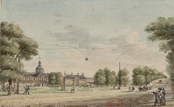 La Salpêtrière : dessin de Christophe Civeton, 1822