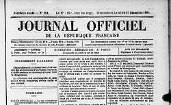 """Accéder à la page """"Journal officiel"""""""
