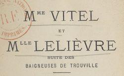 Mme Vitel et Mlle Lelièvre