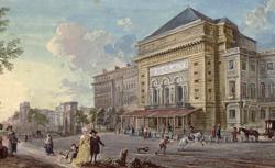 Vue de l'Opéra par Jean-Baptiste Lallemand, 18e
