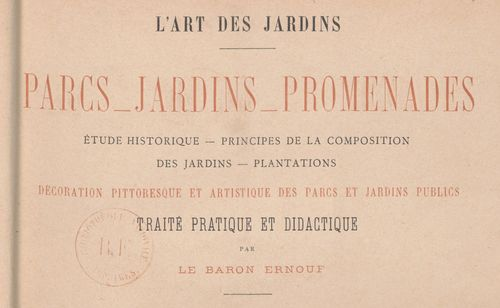Ernouf, Alfred-Auguste, L' art des jardins : parcs, jardins, promenades, 1886