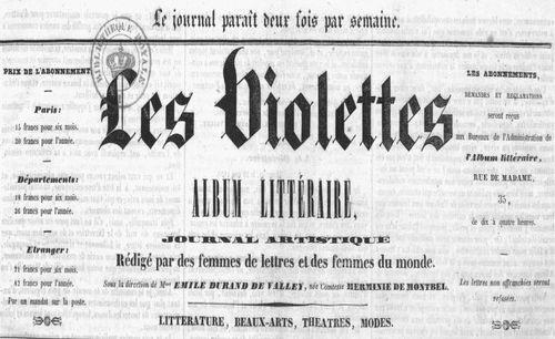 """Accéder à la page """"Violettes (Les) """""""