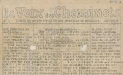 """Accéder à la page """"Voix des cheminots (La) (Marseille)"""""""