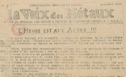 """Accéder à la page """"Voix des métaux (La) (Marseille)"""""""