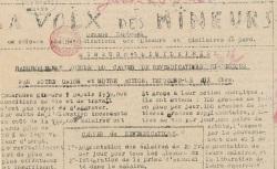 """Accéder à la page """"Voix des mineurs (La) (Gard)"""""""