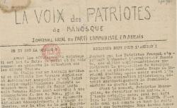 """Accéder à la page """"Voix des patriotes de Manosque (La)"""""""