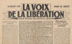 """Accéder à la page """"Voix de la libération (La). Région du Sud-Est"""""""