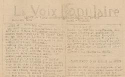 """Accéder à la page """"Voix populaire de la Drôme - Ardèche (La) (Romans)"""""""