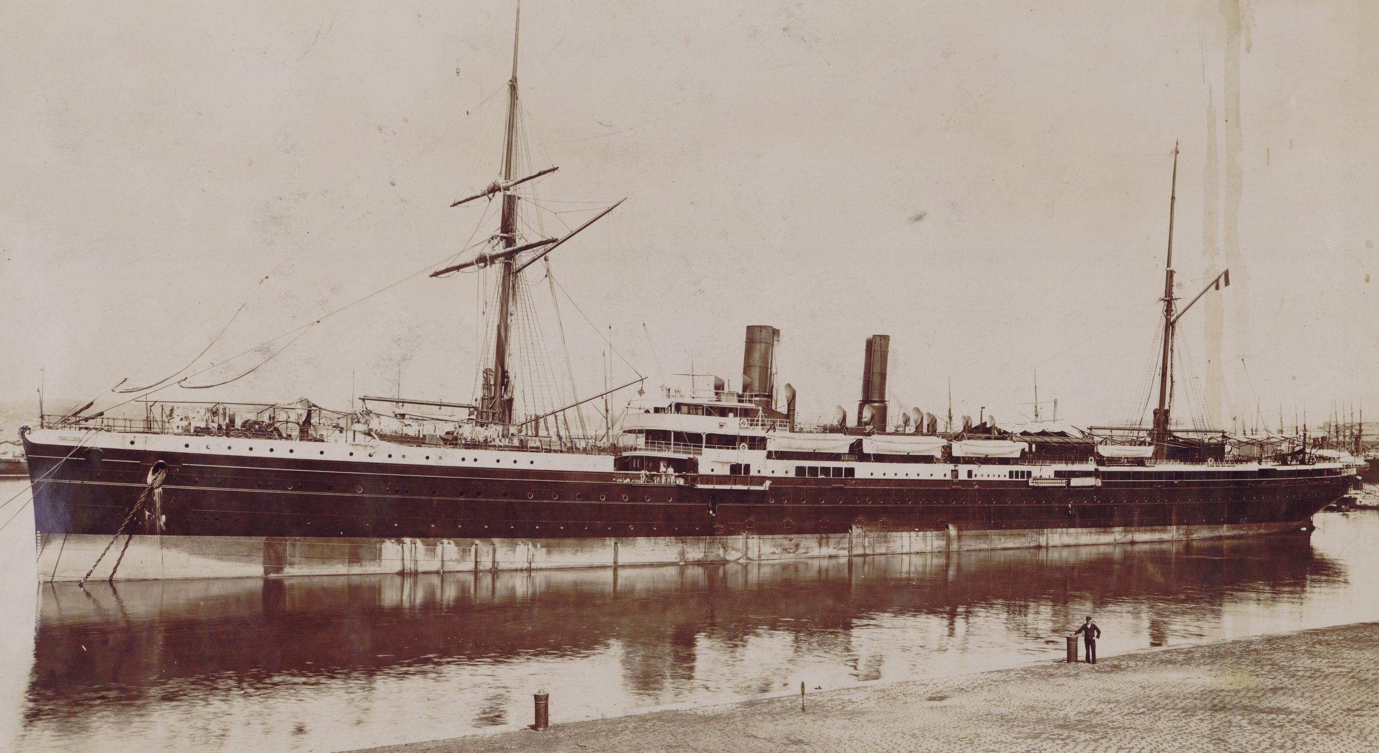 """Dalmouth. Vues du paquebot """"Cordillère"""" des Messageries maritimes, 1895-1900. PETFOL-IC-86"""