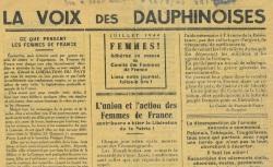 """Accéder à la page """"Voix des Dauphinoises (La)"""""""