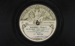 """Walkiria. Canto della primavera : """"Cede il verno ai rai"""" ; Wagner, comp. ; Mario Gilion, ténor ; acc. d'orchestre - source : gallica.bnf.fr / BnF"""