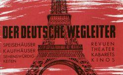 """Accéder à la page """"Deutsche Wegleiter für Paris (Der)"""""""
