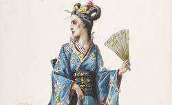 Eugène Lacoste. Yedda : cinquante-huit maquettes de costumes. BMO D216-30 (1-58), vue 6