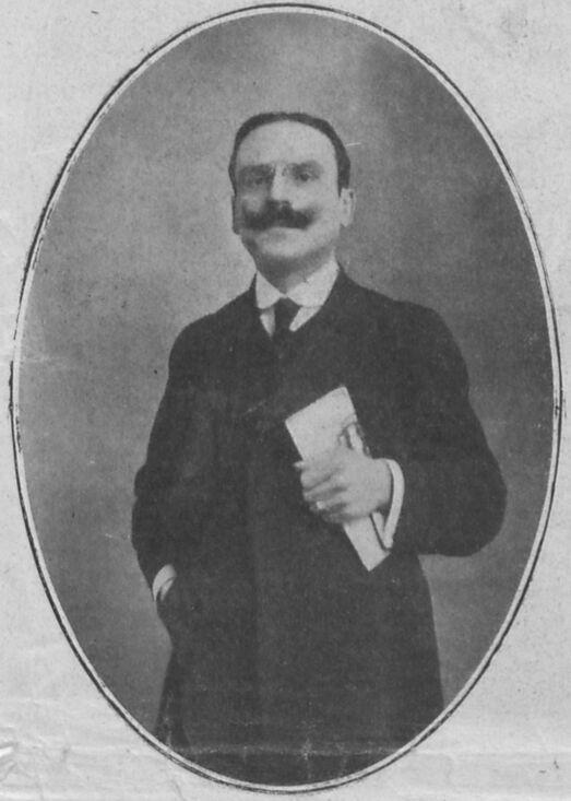 Charles Marescotti, publiciste, directeur du journal France-Italia. Image publiée à Lyon le 8 juin 1913 dans le journal : France-Italia