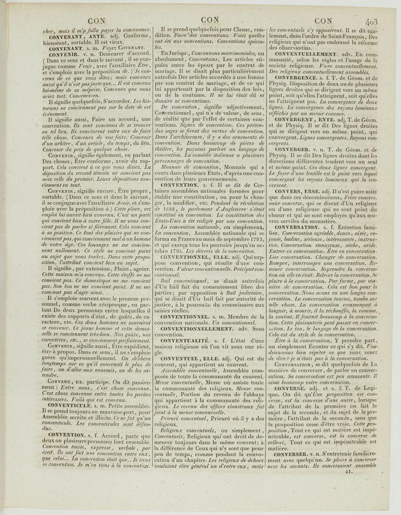 Dictionnaire De L Academie Francaise 6e Edition Convenir