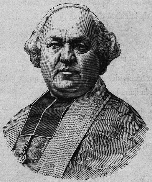 Monseigneur Victor-Lucien-Sulpice Lécot, nommé archevêque de Bordeaux par décret du 4 juin 1890. Image publiée à Bordeaux le 13 novembre 1892 dans le journal : Le Clocher de Bordeaux