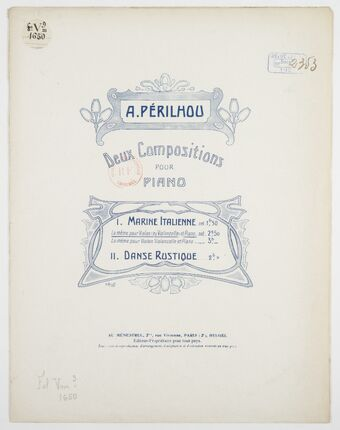 Marine italienne, pour violon ou violoncelle et piano