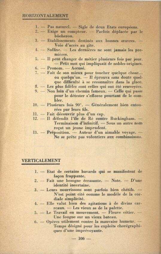 Les Mots Croisés Vintage De Gallica Le Blog De Gallica