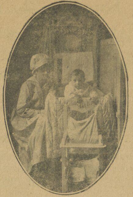 Pour que les enfants soient bien soignés. Les Jeunes protectrices, consultation gratuite de nourrissons. Image publiée à Auch le 15 juillet 1919 dans le journal : Le Foyer gascon