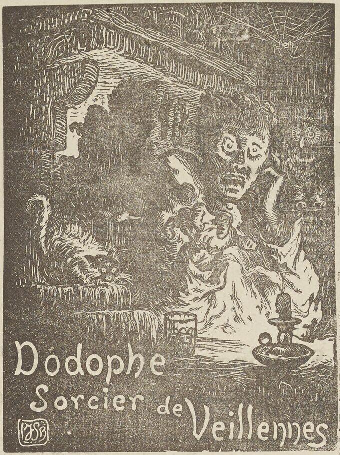 Dodophe, sorcier de Veillennes. Roman solognot par Hubert-Fillay. Image publiée à Blois le 2 janvier 1927 dans le journal : Le Républicain de Loir-et-Cher