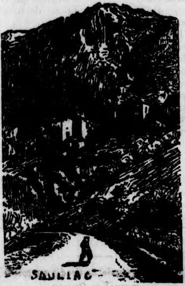 La vallée du Célé. Sauliac. Image publiée à Paris le 12 mars 1911 dans le journal : Le Lot à Paris
