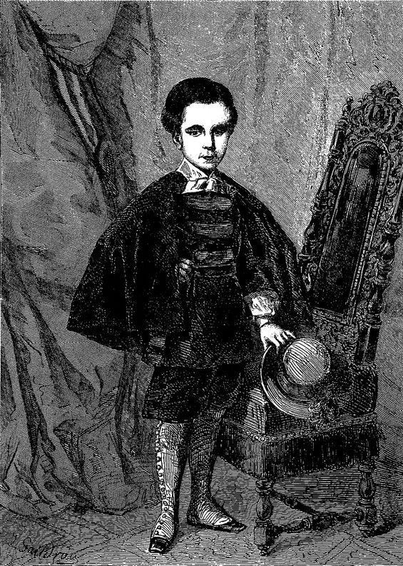 Portrait en miniature d'Alphonse Brunard, par son père le peintre Joseph Brunard. Image publiée à Troyes le 7 juin 1860 dans le journal : L'Exposition de Troyes illustrée