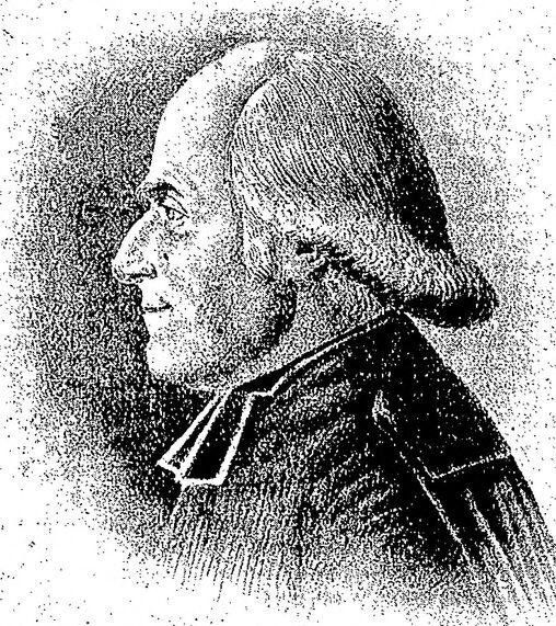 M. Félix-Laurent Augier de Moussac, vicaire général de Poitiers (1753-1827). Image publiée à Poitiers le 8 janvier 1905 dans le journal : La Semaine religieuse du diocèse de Poitiers