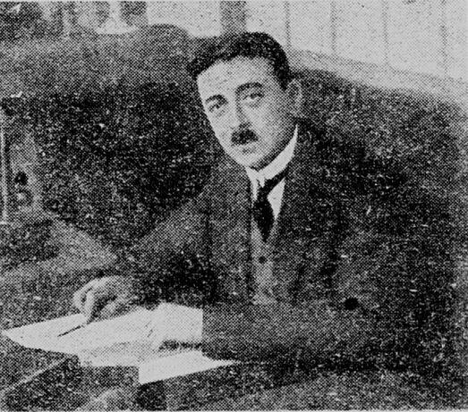 Maurice Berger, candidat républicain démocrate populaire. Image publiée à Orléans en février 1928 dans le journal : Le Démocrate orléanais