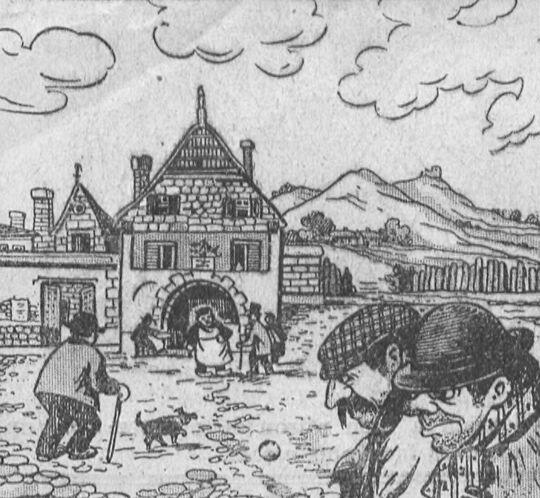 [Faire des remontrances à son député]. Image publiée à Vernon le 8 avril 1905 dans le journal : Le Réveil de Vernon. Supplément illustré