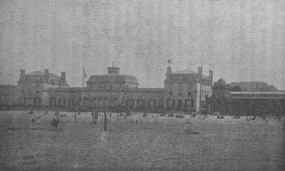 Établissement du Casino des bains de mer, Cherbourg. Image publiée à Cherbourg en 1906 dans le journal : Bulletin de la Société artistique et industrielle de Cherbourg