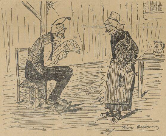 Les jhens de la Saintonjhe. Image publiée à Saint-Jean-d'Angély le 17 mai 1903 dans le journal : Le Sounnâ
