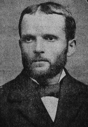 Santu Casanova (en 1880), un grand poète régionaliste, le Mistral de la Corse. Image publiée à Paris en janvier 1928 dans le journal : Cyrnos