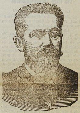 L'amiral Fournier. Image publiée à La Rochelle le 13 août 1905 dans le journal : La Démocratie de La Charente-Inférieure