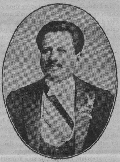 Alexandre Grosjean, sénateur du Doubs, maire de Besançon. Image publiée à Paris le 20 août 1910 dans le journal : La Franche-Comté à Paris