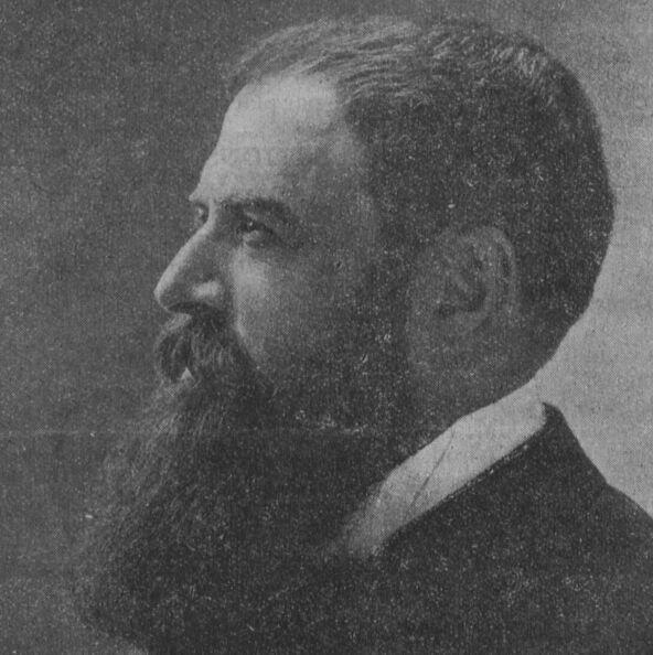 Tristan Bernard, Bisontin. Photo Nadar. Image publiée à Paris le 1er février 1914 dans le journal : La Franche-Comté à Paris