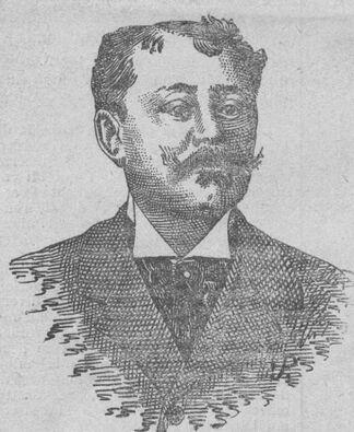 Félix-Antonin Lavat, publiciste. Image publiée à Toulouse le 3/10 novembre 1900 dans le journal : Le Progrès du Midi